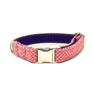 Geranium & Dove – Harris Design – Handmade Dog Collar