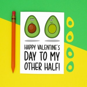 Avocado Other Half Pun Valentines Day A6 Card