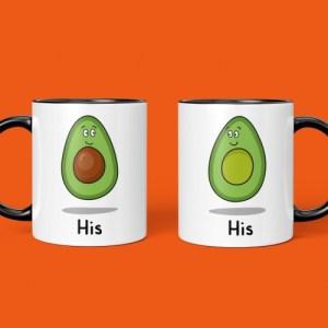 Avocado His and His Mug Set