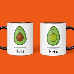 Avocado Hers and Hers Mug Set
