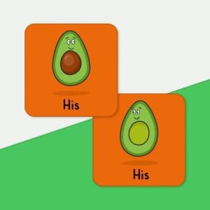 Avocado His and His Coaster Set
