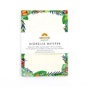 Jungle Bugs A6 Blank Recycled Notepad