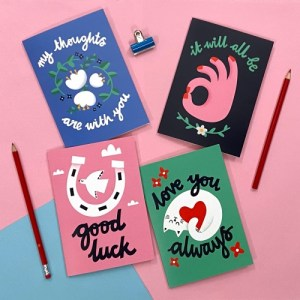 Happier Days Mixed Occasion Greeting Card Bundle - good luck group 500x500