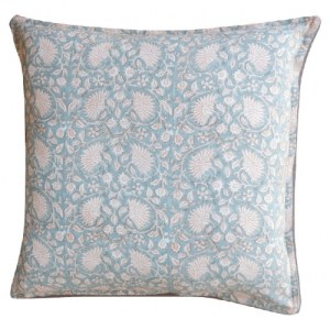 Cushion cover 'Cornflower' Seagreen/Cinnamon, Large 50 x 50 cm