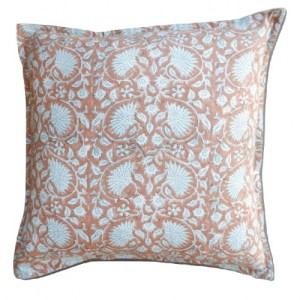 Cushion cover 'Cornflower' Cinnamon/Seagreen, Medium 40 x 40 cm