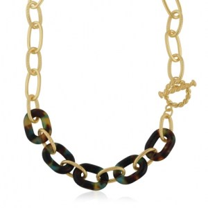 Amy Matte Resin Chain Necklace - Blue/Yellow/Brown - il 1140xN.2894508280 i1gf 500x500