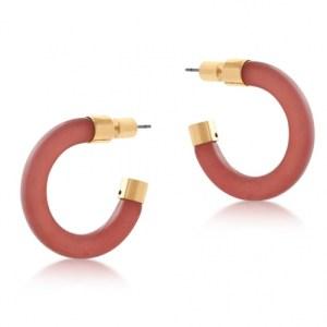 Elle Resin and Metal Hoop Earrings - Pink - il 1140xN.3032790274 9eua 500x500
