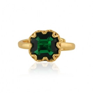 Adrian Square Gem Adjustable Ring - Gold/Emerald - il 1140xN.2896559160 8ad9 500x500