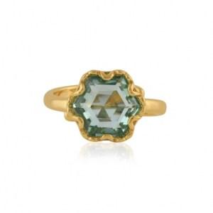 Fiona Hexagon Shape Gem Adjustable Ring - Gold/Blue - il 1140xN.2896567992 bste 500x500