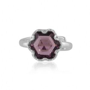 Fiona Hexagon Shape Gem Adjustable Ring - Silver/Amythyst - il 1140xN.2896567652 4vhy 500x500