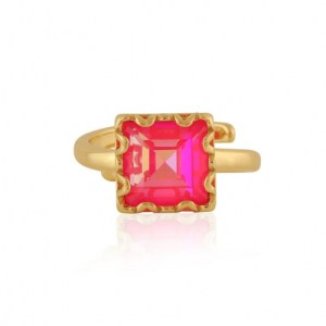 Sienna Sqare Gem Adjustable Ringle Ring - Gold/Pink - il 1140xN.2944256041 oewb 500x500