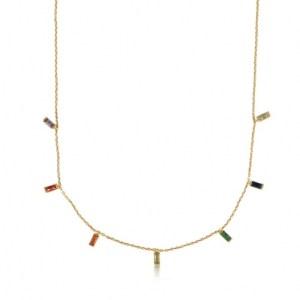 Iris Rainbow Baguette Stones Delicate Necklace - Gold - il 1140xN.2896485098 9ynp 500x500