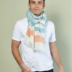 Figari striped linen scarf