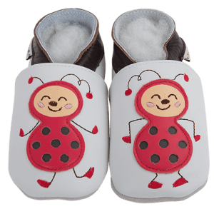 Soft Leather Baby Slippers Mademoiselle Coccinelle