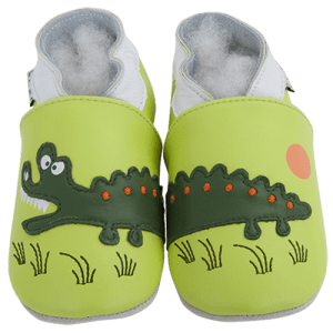 Soft Leather Baby Slippers Crocodile