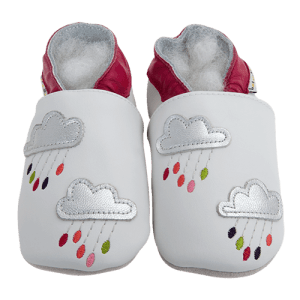 Soft Leather Baby Slippers Rain Of Colors Kid shoes