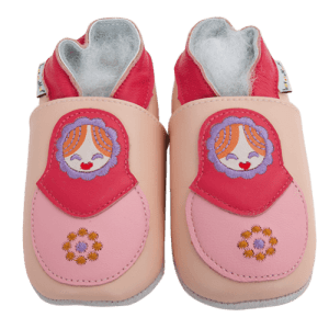 Soft Leather Baby Slippers Matriochka Kid shoes