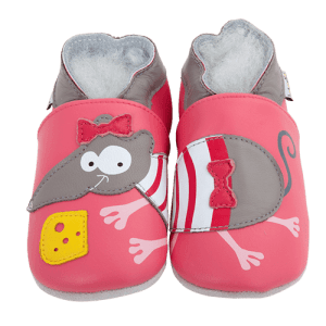 Soft Leather Baby Slippers Mouse
