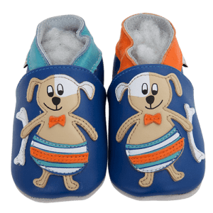 Soft Leather Baby Slippers Dog In The Sea Kid shoes