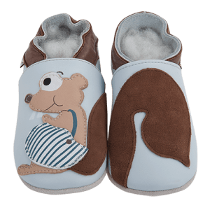 Soft Leather Baby Slippers Squirrel Kid shoes