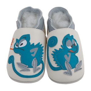Soft Leather Baby Slippers Gluttonous Chameleon