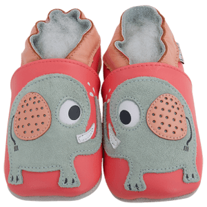Soft Leather Baby Booties Elephant Kiss Kid shoes