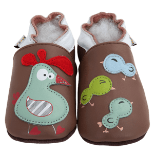 Soft Leather Baby Slippers Chicken Coop