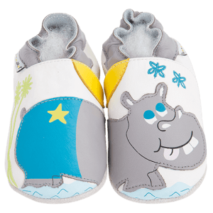 Soft Leather Baby Slippers Hippopotamus Kid shoes