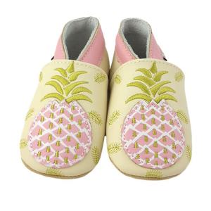 Soft Leather Baby Slippers Pineapple