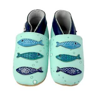 Soft Leather Baby Slippers Sardines