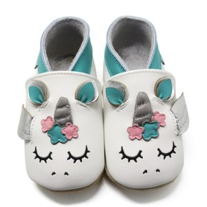 Unicorn Soft Leather Baby Slippers Kid shoes