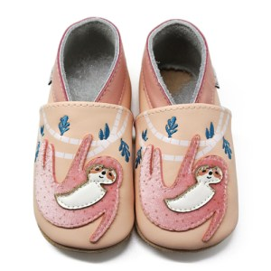 Sloth Soft Leather Baby Slippers Kid shoes
