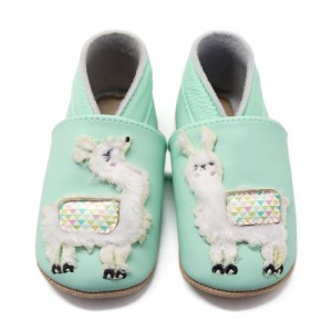 Soft Leather Baby Slippers Llamas Kid shoes