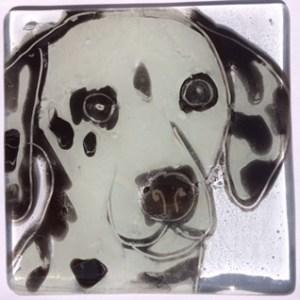Dalmatian dog coaster