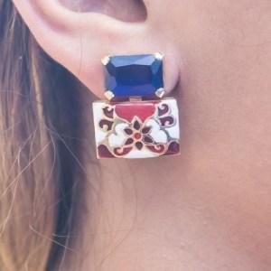 Jaipur Sky Hand-painted Earrings