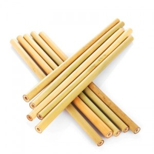 Reusable Eco-Friendly Bamboo Straws 10-Pack