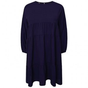Plus Size Navy Tier Dress ( Pack of 6)