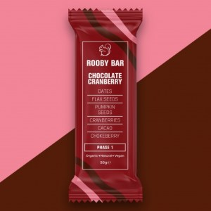 Rooby Bar Chocolate Cranberry Single - Chocolate Cranberry 500x500