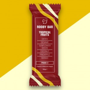 Rooby Bar Tropical Fruits Single - Tropical Fruits 500x500