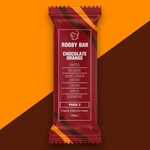 Rooby Bar Chocolate Orange Single - Chocolate Orange 500x500