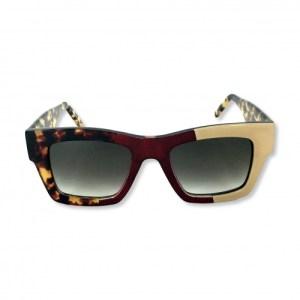 Gustavo Eyewear – G64 C43 – ANIMAL PRINT – TL BURGUNDY – BEIGE