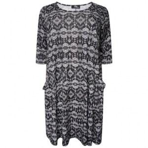 Plus Size Black White Swing Dress ( Pack of 6)