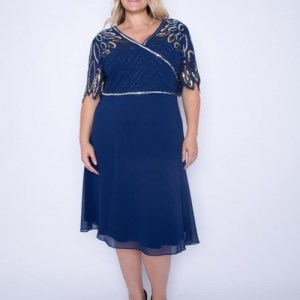 Plus Size V Neck Midi Sequin Dress ( Pack of 6)