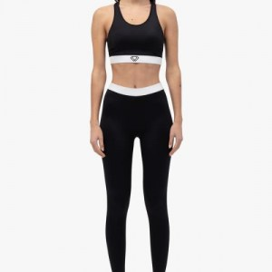 SIGNATURE LEGGING: BLACK/WHITE