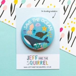 Save The Ocean Biodegradable Badge