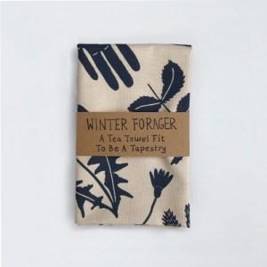 Winter Forager Tea Towel