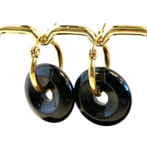 Earrings with natural stone pendant blue goldstone - 5a6d311d9521584a550648e55a85ffea37d90787 500x500