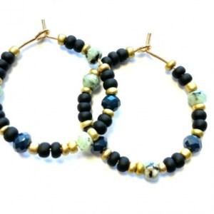 Earrings gold with black, gold and green - d5c0ff9ae149042c50d02ac9974e2eb6e7dfa415 500x500