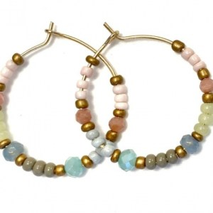 Earrings gold with pastel, old gold and swarovski - 89452cadc7f22a03e3690488b4226928725681da 500x500