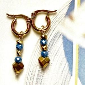 Earrings gold with crystal blue and heart gold - 176cc309f1612ec12788b4b0b18ec343234dfaa6 500x500